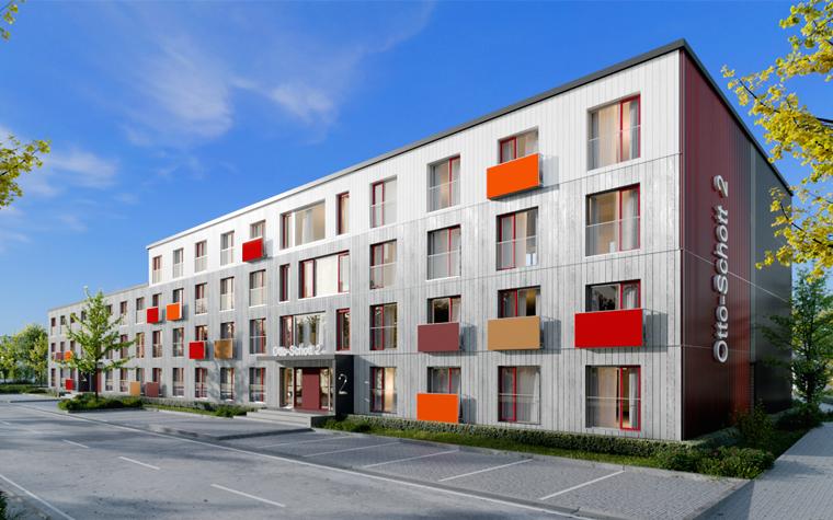 Holzmodul-Gebäude