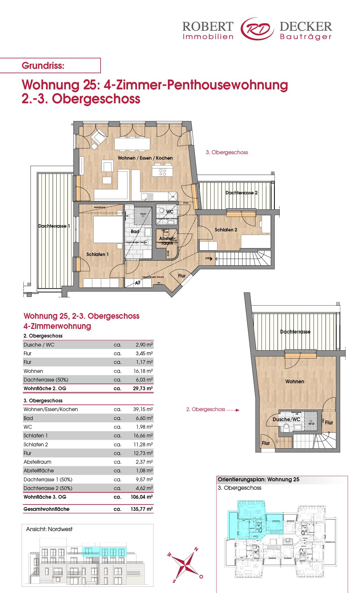 4-Zimmer-Penthousewohnung, Whg. 25