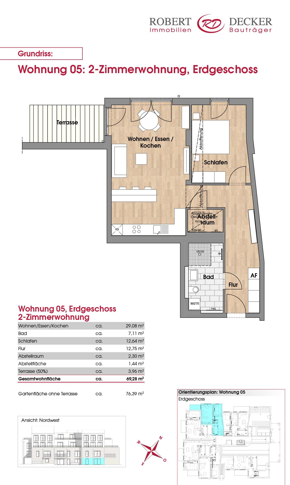 2-Zimmerwohnung, Erdgeschoss - Whg. 05