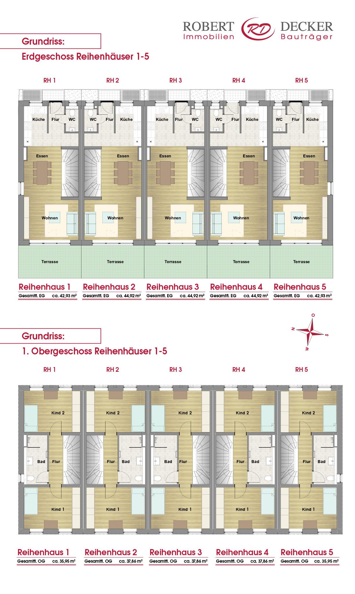 Übersicht Erdgeschoss und Obergeschoss